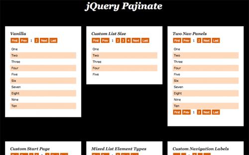 pajinate-jquery
