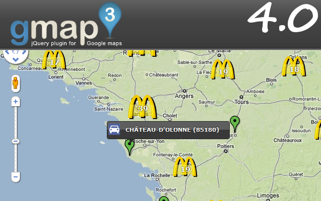 GMAP3 – Plugin jQuery – L'API Google Map v.3 Integration à la sauce jQuery