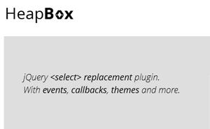 HeapBox – Plugin jQuery – Améliorez le visuel de vos listes sélectives
