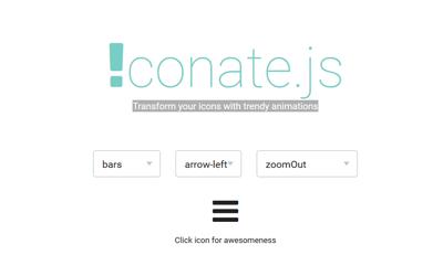 Transformez vos icônes avec des animations en javascript et css3 avec iconate.js