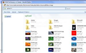 PDW File Browser – De l'upload d'images intégré à votre TinyMCE
