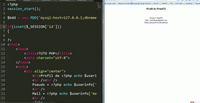 Tuto vidéo – Créer un espace membre en PHP