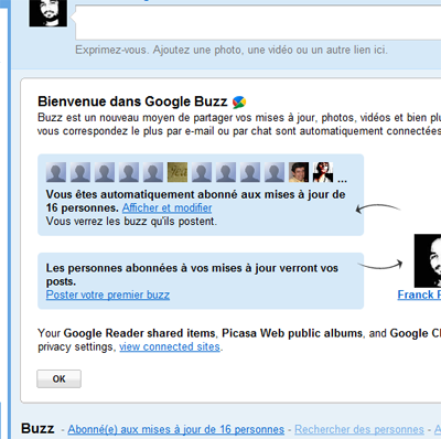 Surprise google buzz