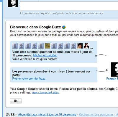 Surprise google buzz
