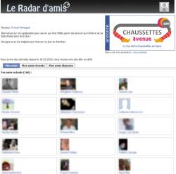 radar d'amis facebook