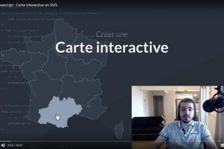 Tuto vidéo pour réaliser une carte interactive en javascript