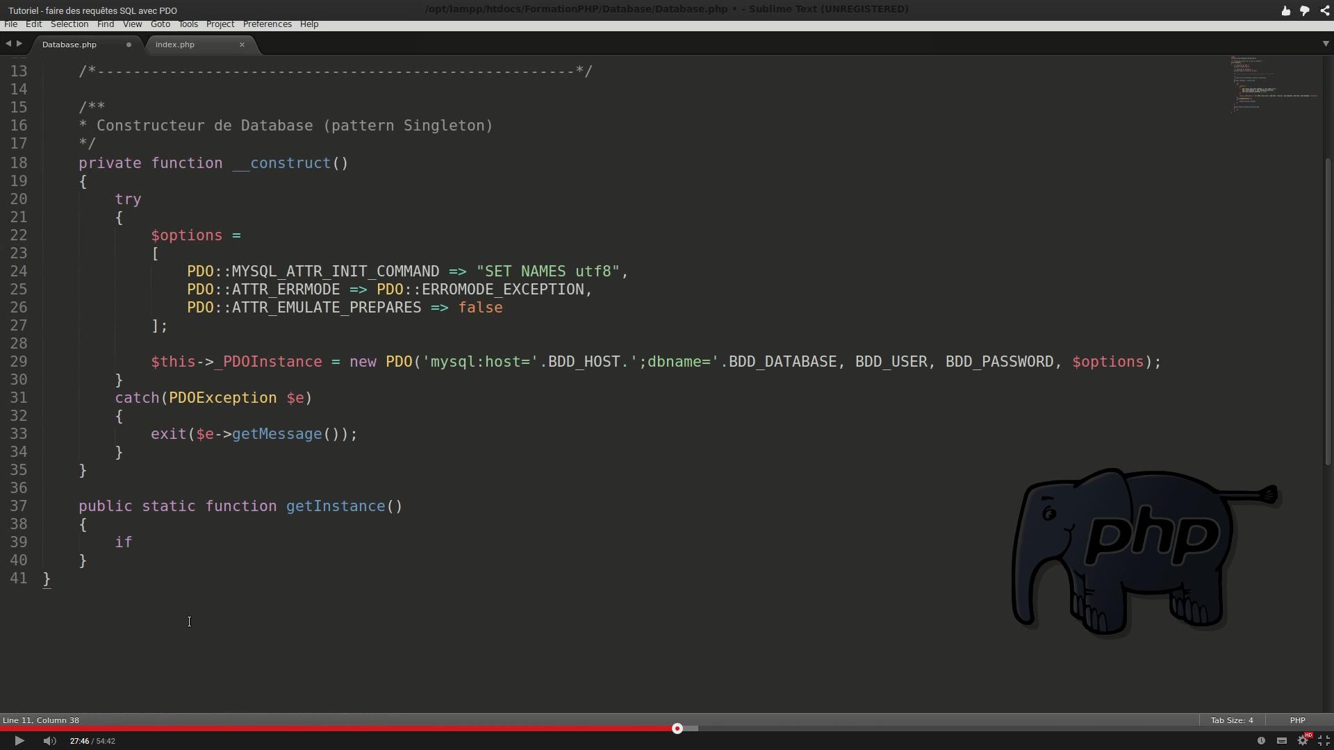 Tuto vidéo – PHP / SQL – les requêtes avec PDO